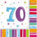 16 Napkins Radiant Birthday 70 33 x 33 cm