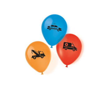 """6 Latex Balloons On the Road 22.8 cm/9"""""""