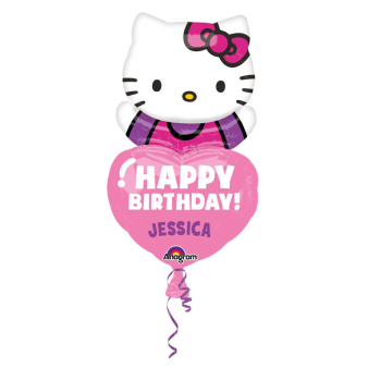 SuperShape personalisiert Hello Kitty Foil Balloon P40 Packaged 48 x 81 cm