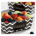 24 Snack Trays Paper Minis black 11,4 x 6,6 x 4,1cm