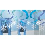 15 Swirl Decorations Winter Wonderland Foil / Paper 61 cm
