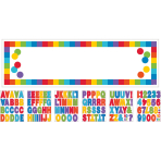 Foil Banner Birthday Accessories - Primary Rainbow Personalizable 165 x 50.8 cm
