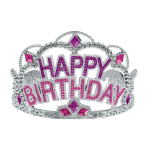 Tiara Happy Birthday Plastic 11.5 cm x 8.5 cm