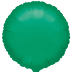"Standard ""Metallic Green"" Foil Balloon Round, S15, packed, 43cm"