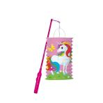 Lantern Kit Unicorn Paper / Plastic 28 cm / 40 cm