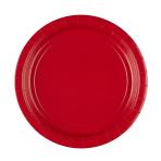 8 Plates Apple Red Paper Round 22.8 cm