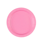 20 Plates New Pink Paper Round 17.7 cm