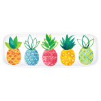 Platter Pineapple Hot Stamped Plastic 44 x 16cm