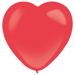 50 Latex Balloons Decorator Standard Heart Apple Red 30 cm / 12""