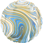 Standard Marblez Blue Circle Foil Balloon S18 Packaged
