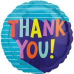 Standard Thank You Fun Type Foil Balloon S40 packaged
