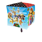 Cubez Mario Bros Foil Balloon G40 Packaged 38 x 38 cm