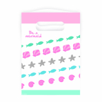 8 Party Bags Be a Mermaid Plastic 23.4 x 16.2 cm