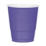 10 Cups New Purple Plastic 355 ml