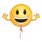 Super Shape Emoticon Foil Balloon, P35, bulk, 99x58 cm