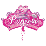 "SuperShape ""Princess Crown & Gem"" Foil Balloon, P35, packed, 81 x 48cm"