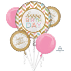 "Bouquet ""Pastel Confetti Celebration"" 5 Foil Balloons  , P75, packed,"