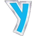 48 Stickers Letter Y