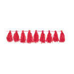 Tassel Garland Red 3 m