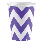 8 Cups New Purple Chevron Paper 266 ml