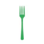 10 Forks Festive Green Plastic 15.7 cm