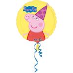 "Standard ""Peppa Pig"" Foil Balloon round S60 bulk 43cm"