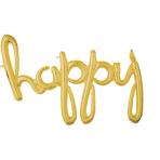 Script Phrase `Happy` Gold