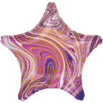 Standard Marblez Purple Star Foil Balloon S18 Packaged