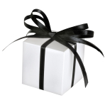 100 Favour Boxes White 5.7 x 5.7 x 5.7 cm