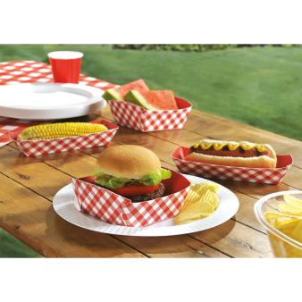 50 Food Trays Picnic Party 12,7x12,7 cm / 7,6 x 19 cm