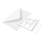 8 Invitations & Envelopes Little Dancer Paper 8 x 14 cm
