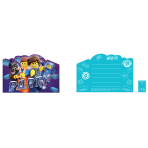 8 Invitations & Envelopes Lego Movie 2