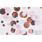 Confetti With Puff Balls Rose Gold Birthday Paper / Plastic 16 g