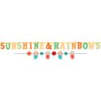 Banner Kit Retro Rainbow Paper 2 Parts Length 150 cm / 176 c