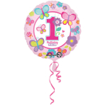 Standard Sweet Birthday Girl Foil Balloon S40 Packaged 43 cm