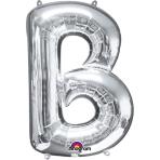 SuperShape Letter B Silver Foil Balloon L34 Packaged 58cm x 86cm