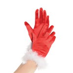 Costume Accessory Gloves Mrs Clause One Size