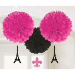 3 Fluffys with danglers A Day In Paris 40 cm/17.8 cm