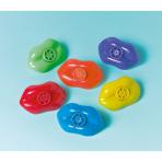 12 Lip Whistles Plastic 7.7 x 3.8 cm