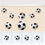 12 Cutouts Championship SoccerAssorted
