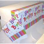 Tablecover Radiant Birthday Plastic 137 x 243 cm
