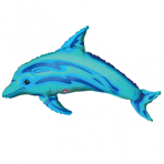Mini Shape Ocean Blue Dolphin Foil Balloon A30 Air Filled