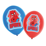 "6 Spider-Man Latex Balloons 4 Colour 11""/27.5cm"