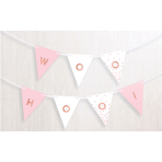 Pennant Banner Rose Gold Blush Paper Personalizable 457 x 17.7 cm