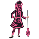 Children's Costume GID Stick Witch 10-12 yrs