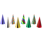 Party Cone Hats Single-Coloured Assorted Paper Height 23.5 c