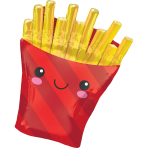 SuperShape XL French Fries Foil Balloon P30 Packaged 58cm x 71cm