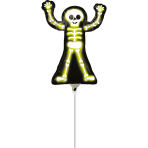 Minishape Neon Skelly Foil Balloon A30 Air-filled
