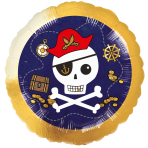 """Standard """"Pirates Map"""" Foil Balloon Round, S40, packed, 43 c"""