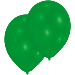 50 Latex Balloons Standard Green 27.5 cm / 11""